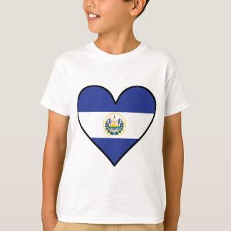 El Salvadorian Flag Heart T-Shirt