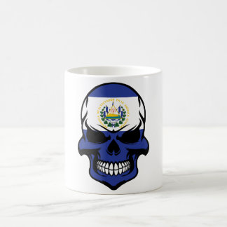 El Salvadorian Flag Skull Coffee Mug