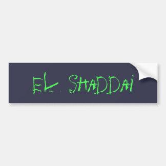 El Shaddai Bumper Sticker
