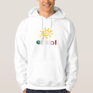 El Sol The Sun in Mexican Summer Vacation Hooded Pullover