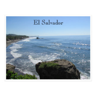 el tunco playa postcard
