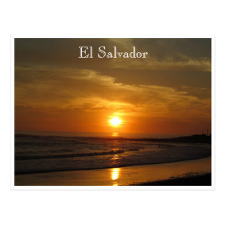 el tunco sunset postcard