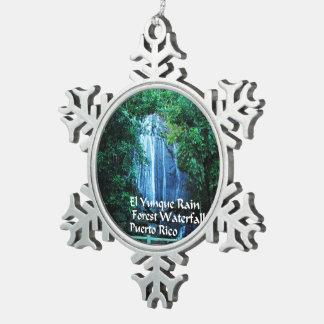 El Yunique Rainforest Pewter Snowflake Ornament
