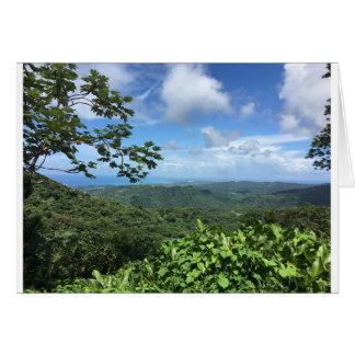 El Yunque Vista Puerto Rico Notecard