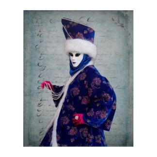 Elaborate Carnival Costume, Venice Acrylic Wall Art
