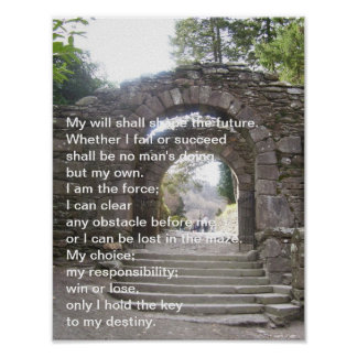 Elaine Maxwell. My Will shall shape the future Poster