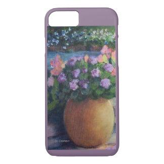 Elaine's Garden-Closeup-Gold Pot and Flowers iPhone 8/7 Case