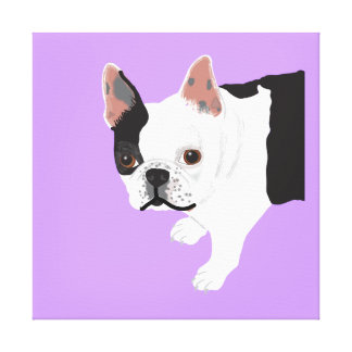 Elaine's Toby Boston Terrier Canvas Print