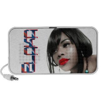 Elaka Retro Monochrome Red Lipstick Mp3 Speakers