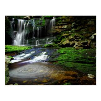 Elakala Waterfalls Swirling Pool Mossy Rocks Postcard