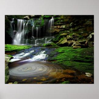 Elakala Waterfalls West Virginia Poster