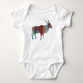 Eland antelope baby bodysuit