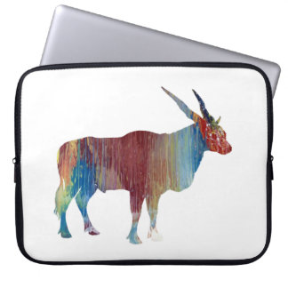 Eland antelope laptop sleeve