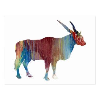 Eland antelope postcard