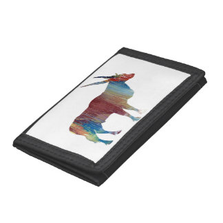 Eland antelope trifold wallet