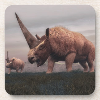 Elasmotherium mammal dinosaurs - 3D render Beverage Coaster