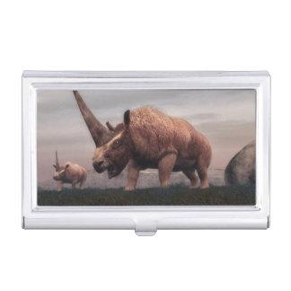 Elasmotherium mammal dinosaurs - 3D render Business Card Holder