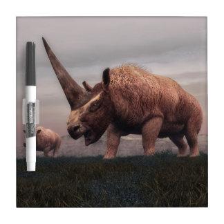 Elasmotherium mammal dinosaurs - 3D render Dry Erase Board