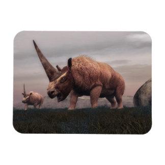 Elasmotherium mammal dinosaurs - 3D render Magnet
