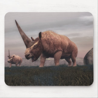 Elasmotherium mammal dinosaurs - 3D render Mouse Pad