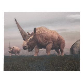 Elasmotherium mammal dinosaurs - 3D render Notepad