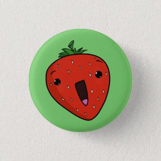 Elated Strawberry 1 Inch Round Button