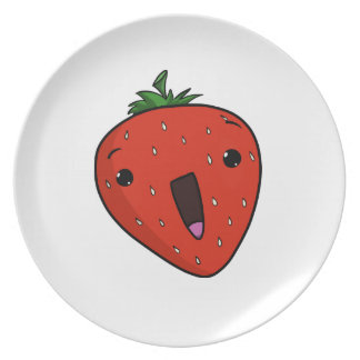 Elated Strawberry (plate) Plate