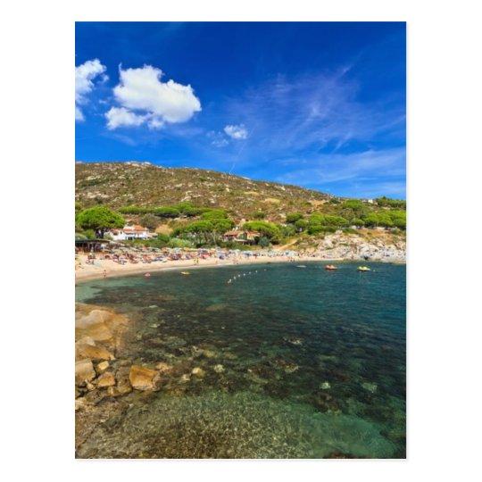 Elba island - beach in Seccheto Postcard