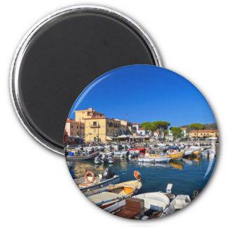 Elba - Marina di Campo 2 Inch Round Magnet
