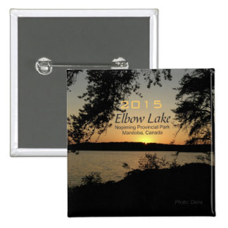 Elbow Lake Manitoba Canada Magnet Change Year 2 Inch Square Button