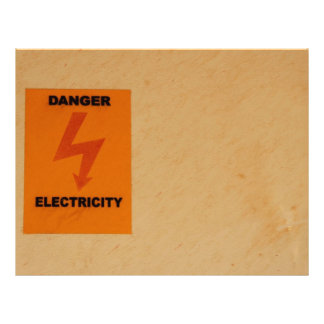 Elcetricity danger sign letterhead design