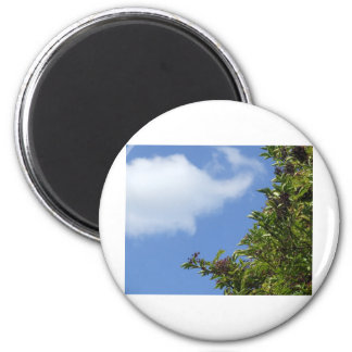 Elder Berries 2 Inch Round Magnet