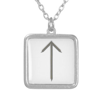 Elder Futhark Rune Tyr Silver Plated Necklace