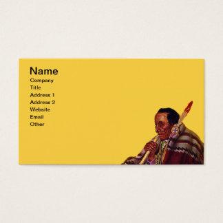 Elder Male Native American Peace Pipe Business Card