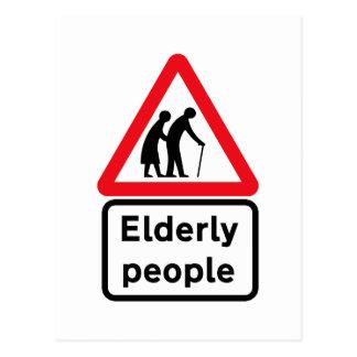 Elderly People (2), Traffic Sign, UK Post Card