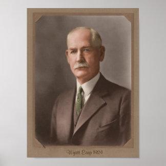 Elderly Wyatt Earp 1924 Poster