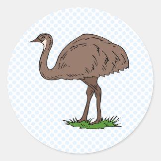Eldon Emu Round Sticker