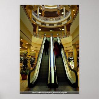 Eldon Garden shopping mall, Newcastle, England Poster