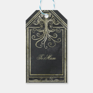 Eldrich Gift Tag Gold & Black