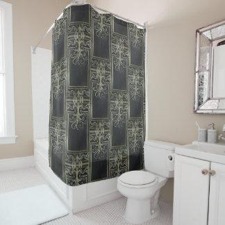 Eldrich Shower Curtain (Black and Gold)