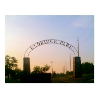 Eldridge Park in Elmira, NY at Sunset Postcard