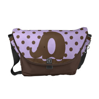 Ele-n-Friends Elephant Medium Messenger Bag