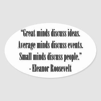 Eleanor Roosevelt Quote Oval Sticker