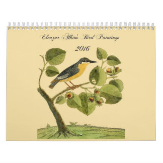 Eleazar Albin's Bird Paintings 2016 Calendar