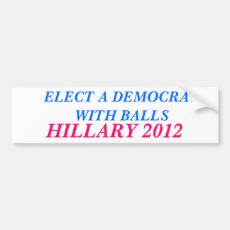 Elect a Democrat With Balls Bumper Sticker