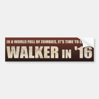 Elect a Walker '16 - Bumper Sticker