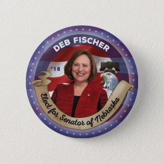 Elect Deb Fischer for Senator of Nebraska 2 Inch Round Button