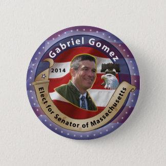 Elect Gabriel Gomez for Senator of Massachusetts 2 Inch Round Button