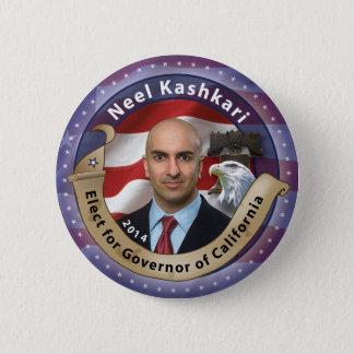 Elect Neel Kashkari for Governor of California 2 Inch Round Button