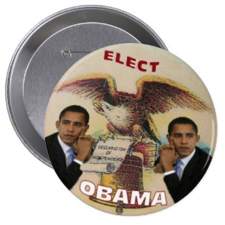 Elect Obama Liberty Bell 4-Inch Button
